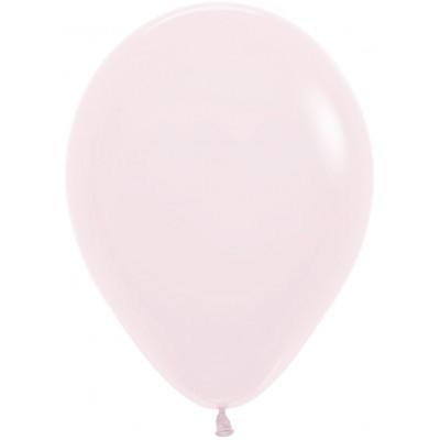 Воздушный шар Макарунс нежно-розовый пастель (30 см)