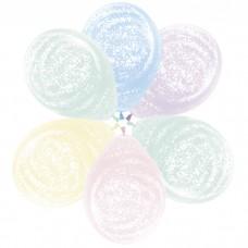 Воздушный шар Морозное граффити макарунс ассорти агат (30 см)