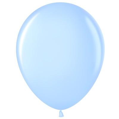 Воздушный шар светло-голубой №1476 пастель (30 см)