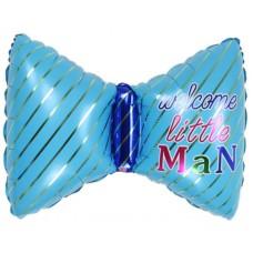 Фольгированный шар-фигура Бантик для мальчика голубой (74 см)