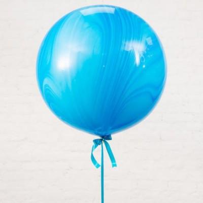 Шар-гигант «№1» синий агат (80 см)