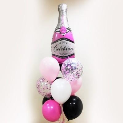 Композиция из шаров Розовое шампанское