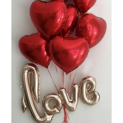 """Композиция """"LOVE Сердца"""""""
